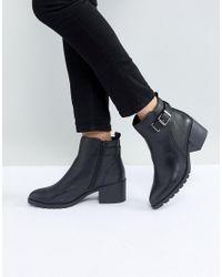 ALDO - Black Etelawien Casual Leather Boot With Faux Fur Lining - Lyst