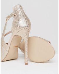 Carvela Kurt Geiger - Geep Metallic Asymetric Strap Heeled Sandals - Lyst