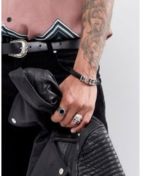 Noose And Monkey - Black Graded Leather Bracelet (+) for Men - Lyst