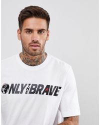 DIESEL - White T-just-sv Brave Logo T-shirt for Men - Lyst