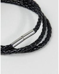 Seven London   Black Woven Wrap Bracelet for Men   Lyst