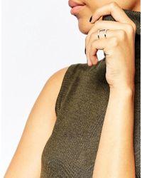 V - Metallic Jewellery Simplicity Spine Ring - Siler - Lyst