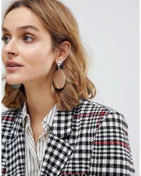 ASOS - Metallic Cut Disc Drop Earrings - Lyst