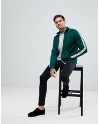 Fred Perry - Sports Authentic Taped Track Jacket In Green for Men - Lyst