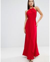 ASOS - Red Open Back Maxi Dress - Lyst