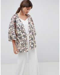 Traffic People - Multicolor Sequin Kimono - Lyst