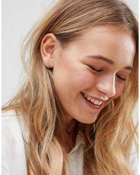 ASOS - Metallic Sunburst Stud Earrings - Lyst