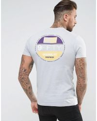 KTZ | Gray T-shirt With 59 Fifty Back Print for Men | Lyst