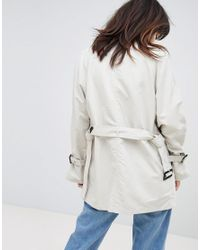 Vero Moda - Natural Mac Jacket With Shoulder Detail - Lyst