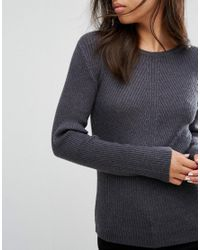Pieces - Gray Vesla Knit Jumper - Lyst