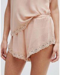 Y.A.S - Pink Chiffon Shorts - Lyst