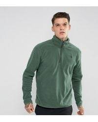 Lyst - The North Face 100 Glacier Sweatshirt 1 4 Zip In Dark Green ... ff6a350b6