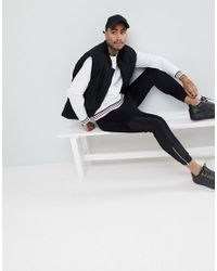 ASOS DESIGN - Sweatshirt With Tipping In White Marl for Men - Lyst