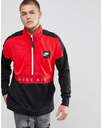 982b3ec8b Nike Air Half-zip Jacket In Black 918324-657 in Black for Men - Lyst