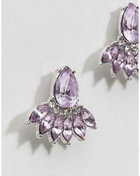 ASOS DESIGN - Purple Design Occasion Teardrop Jewel Earrings - Lyst