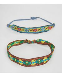 ASOS - Multicolor Festival Geometric Multi Colour Bracelet Pack for Men - Lyst