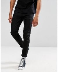 fb99d07c5da25 Lyst - Nudie Jeans Co Tight Terry Super Skinny Jean Deep Black Wash ...