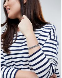 ASOS - Metallic Asos Design Curve Exclusive Thick Textured Cuff Bracelet - Lyst