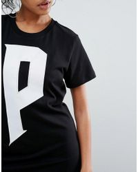 PUMA - White Exclusive To Asos T-shirt Dress In Black - Lyst