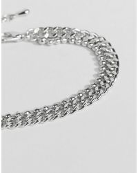 ASOS   Metallic Limited Edition Double Row Chain Bracelet   Lyst