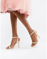 Glamorous - Orange Barely There Sandal - Lyst