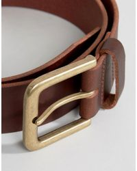 New Look - Leather Jeans Belt In Brown for Men - Lyst