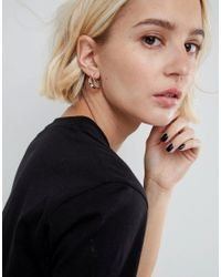 ASOS - Metallic Limited Edition Thread Through Hoop Earrings - Lyst