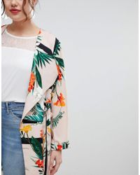 River Island - Multicolor Tropical Print Duster Coat - Lyst