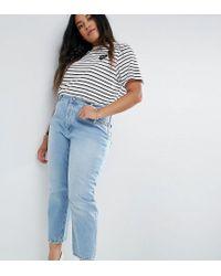 739f88fff149f1 Women's Blue Asos Design Curve Florence Authentic Straight Leg Jeans ...