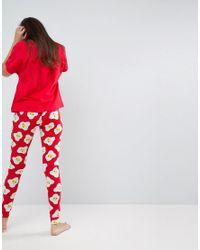ASOS - Eggstra Tired Tee & Legging Pyjama Set - Lyst