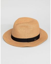 5e8bd3123a1 Barts Aveloz Summer Trilby Hat in Brown for Men - Lyst