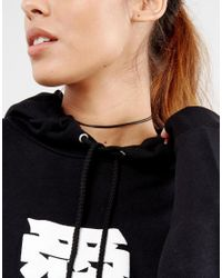 ASOS - Black Basic Double Cord Choker Necklace - Lyst