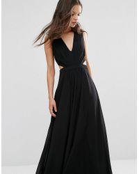 ASOS | Black Side Cut Out Maxi Dress | Lyst