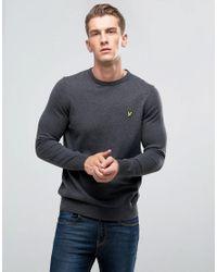 Lyle & Scott - Gray Merino Mix Jumper Charcoal for Men - Lyst