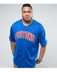 Mitchell & Ness - Blue Plus Detroit Pistons Nba Mesh T-shirt for Men - Lyst