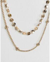 ASOS - Metallic Fine Disc Multirow Choker Necklace - Lyst