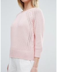 French Connection | Pink Moonlight Mozart Knit Jumper | Lyst