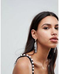 ASOS - Metallic Asos Statement Vintage Style Jewel And Beaded Tassel Earrings - Lyst