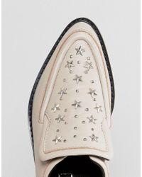 Sol Sana - Natural Nancy Nude Star Studded Flat Shoes - Lyst