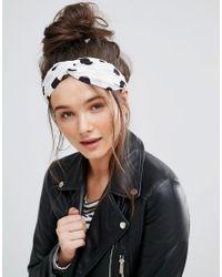 Pia Rossini - Black Large Spot Polka Dot Tie Oblong Headband - Lyst