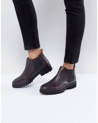 ASOS - Red Asos Analise Leather Chelsea Boots - Lyst