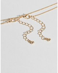 ASOS - Metallic Pack Of 2 Double Disc Necklaces - Lyst
