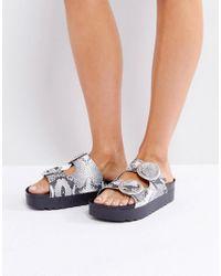 Sixtyseven | Natural Flatform Slide Sandal | Lyst