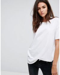 Dr. Denim - White Oversized Slogan T Shirt - Lyst