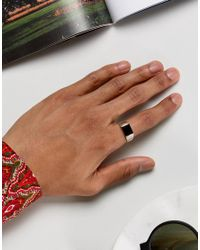 ASOS - Metallic Smart Sterling Silver Signet Ring for Men - Lyst