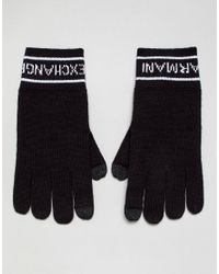 Armani Exchange - Blue Gants for Men - Lyst