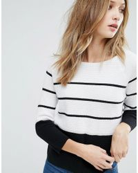 French Connection - White Matilda Knit Stripe Sweater - Lyst
