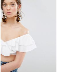 ASOS - Metallic Statement Tortoise Earrings - Lyst