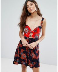 Free People - Blue Baby It's You Printed Mini Dress - Lyst