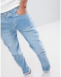 Loyalty & Faith - Blue Loyalty And Faith Tall Beattie Skinny Fit Jean In Light Wash for Men - Lyst